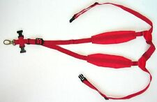 RED! Neck strap harness for Sax padded alto tenor bari Saxophone