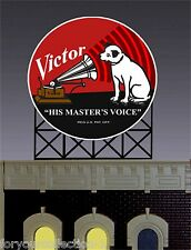 Miller's RCA Victor  Animated Neon Sign O/HO Scale 8071 MILLER ENGINEERING