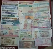 WORLD DIFFERENT 50  UNC NOTES FROM 20 COUNTRY'S LOT NO.2