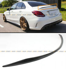 2015-2016 MERCEDES BENZ W205 C63 AMG S OE STYLE CARBON FIBER TRUNK SPOILER WING