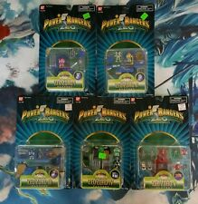 NEW POWER RANGERS MICRO ZEO ZORD I,II,III,IV,V MINI PLAYSET SET OF 5 MOC 1996