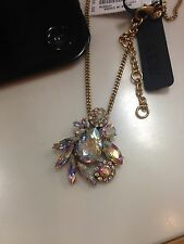J Crew Crystal Pineapple Big Chunky Pendant Necklace NWT Stunning!