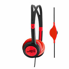 Urbanz VIBE Lightweight Headphones Earphones with Volume Control - Red