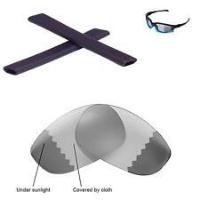 New WL Polarized Transition Lenses And Black Earsocks For Oakley Split Jacket