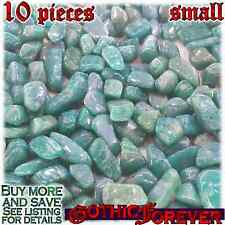 10 Small 10mm Free Ship Tumbled Gem Stone Crystal Natural - Amazonite