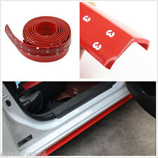 2.5m Red Rubber Foam Car SUV Front Bumper Protector Skirt Lip Spoiler Decor Pad