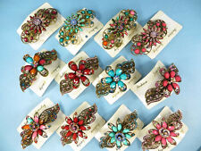 US SELLER-wholesale lot 10 hair barrette rhinestone crystals victorian bohemian