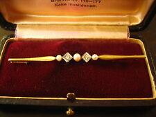exquisite Art Deco Krawattennadel Brilliant Perlen Platin und 585er Gold Unikat