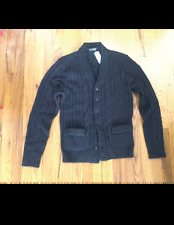 DOLCE & GABBANA HEAVY CABLE KNIT CARDIGAN -BLACK EUR 48/US MED. 38