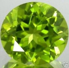 UNUSUAL 7mm ROUND-FACET STRONG-GREEN NATURAL AFGHAN PERIDOT GEMSTONE (APP £136)