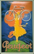 Peugeot Fahrrad Bicycle Paris Blechschild Schild Blech Metal Tin Sign 20 x 30 cm