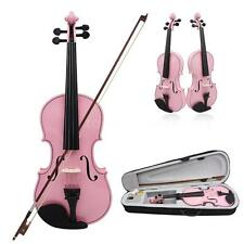 Pink 4/4 Size Violin Fiddle Basswood Arbor Bow for Beginners W4O0