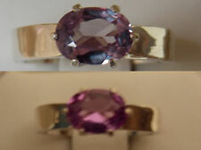 alexandrite 1.30ct purple raspberry 925 sterling silver ring size 5.5 USA