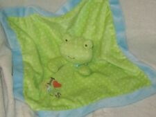 Carters Just One Year Green Frog I Love Hugs Security Blanket Lovey