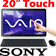 "Sony VAIO Tap 20 All in One Desktop PC 20"" Touch Screen Intel i5 500GB 4GB Win10"