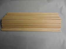 "Free Ship, 75 Count, 1/4"" x 16"" Grooved Wooden Dowel Rods"
