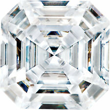 3 Ct Forever One Moissanite Loose Stone Asscher Cut 9 mm