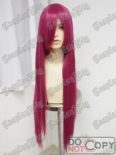 "40"" 100cm long DARK PINK straight COSPLAY WIG fashion FREE SHIPPING CLEARANCE"