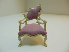 Dollhouse Miniatures Furniture  3551wsup (LT)  Ornate Vintage Chair