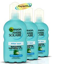 3x Garnier Ambre Solaire After Sun Refreshing Hydrating Moisturiser Spray 200ml