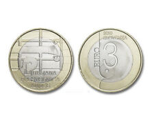 "Slovenia 3 Euro commemorative coin 2010 ""World Book Capital"" - UNC"