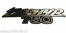 Zephyr 750 silver chrome on black decals custom graphics stickers  x 2 pieces