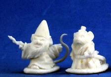 1 x SORCIER ET SAMURAI SOURIS - BONES REAPER figurine miniature jdr rpg mousling