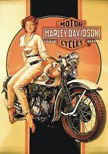 "TARGA VINTAGE ""MOTO HARLEY DAVIDSON""Locandina,Poster,Pubblicità,Bike Advertising"