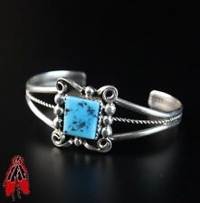 Rare Navajo BABY bracelet sterling silver turquoise Native pawn