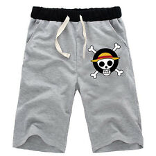 Anime One Piece Luffy Cotton Casual Short Pants Shorts Cargo Trousers Size S-XXL