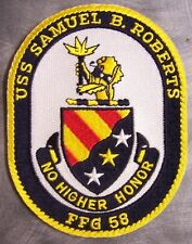Embroidered Military Patch U S Navy ship Frigate USS Samuel B Roberts FFG-58 NEW