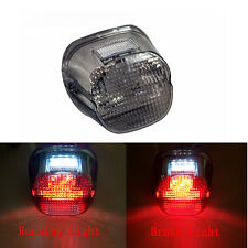Smoke Lens Tail Rear LED Light Brake Stop Lamp For Motorcycle Harley Davidson