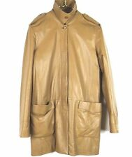 BALLY LEATHER TRENCH COAT WOMENS SIZE EUR 44 (USA MEDIUM)
