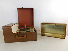 Vintage 1005 Stereo Sonic Portable LP Turntable Record Player w Detach Speaker