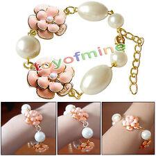 Fashion Bracelet perle d'imitation rétro bracelet camélia Fleurs & Bangles