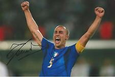Fabio Cannavaro signed World Cup goal celebration Image Relist 10x8 photo UACC