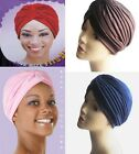 Women's Turban Hats Chemo Headcover Stretchable Black, White, Brown, Navy, Pink