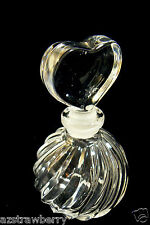 Vintage Onion Round Heart stopper Perfume Bottles Scent Bottle ~Great~