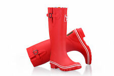 Ladies Plain Evercreatures Tall Wellies Rain Wellington Boots - UK 3 - 8