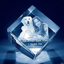 Laser Engraved 3D Crystal Personalized Gift Medium Diamond Shape
