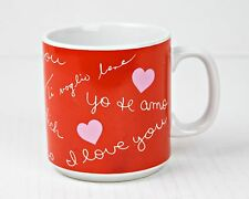 "Valentines Coffee Cup Mug ""I Love You"" Hearts by Russ Berrie & Co."