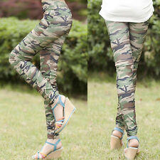 New Ladies Camouflage Stretch Slim Fit Casual Leggings