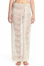 NWT FREE PEOPLE SzM SCALLOPED SHEER LACE HALF SLIP-MAXI SKIRT IN OATMEAL $118