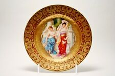 Royal Vienna Signed Hand Painted Gold Decorated Portrait Porcelain Cabinet Plate