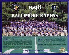 1998 BALTIMORE RAVENS NFL FOOTBALL TEAM  8X10 PHOTO PICTURE