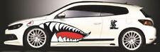 "43"" Full Size Flying Tigers Shark Teeth  High Quality Die-cut Vinyl Decals 4 doo"