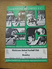 02/01/1978 Maidstone United v Bromley [Kent Senior Cup] . Item In very good cond