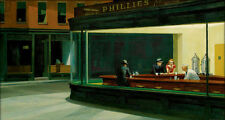 Nighthawks  by Edward Hopper   Giclee Canvas Print Repro