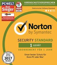 NORTON (Internet) SECURITY 3.0 (2016/2017) 1-Gerät / 1-Jahr PC/Mac / KEY