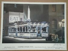 HAND SIGNED JOHN BAEDER EMPIRE DINER 1976 POSTER TOM WAITS c.1985